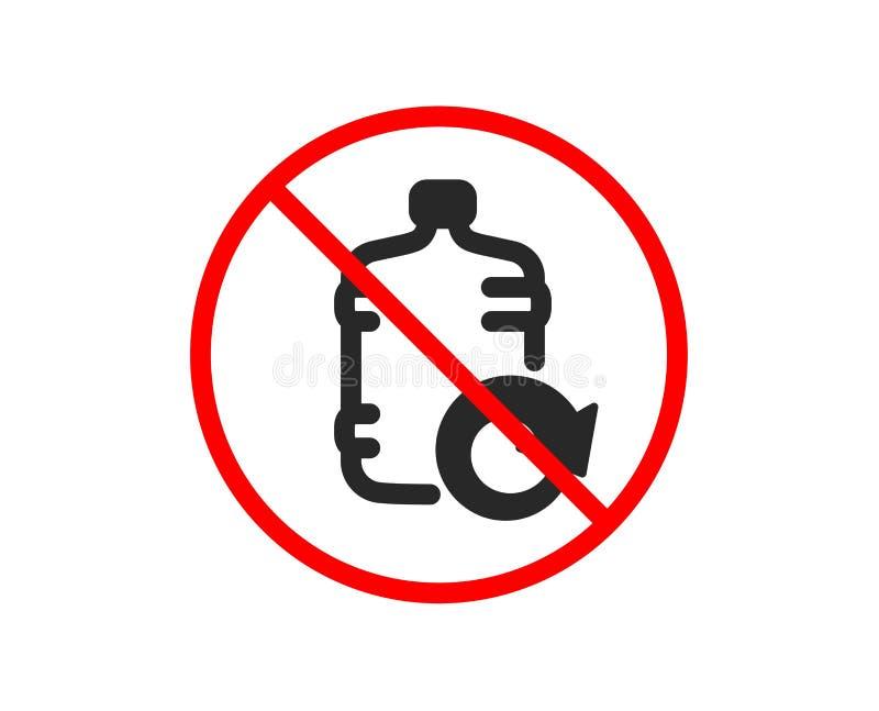 Wodna ch?odno butelki ikona Nape?niania aqua znak wektor ilustracji