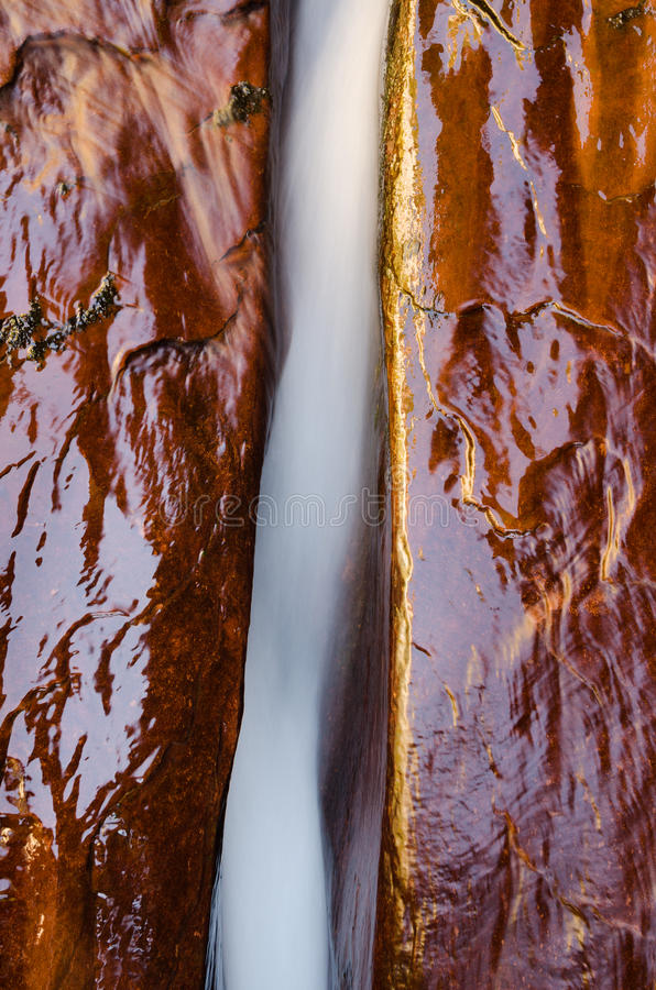 Wodna erozja, opuszczać rozwidlenie Północna Zatoczki Rzeka zdjęcia royalty free