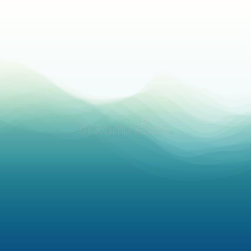 Wodna Fala projekta świeża ilustracyjna naturalna wektoru woda twój ilustracja wektor