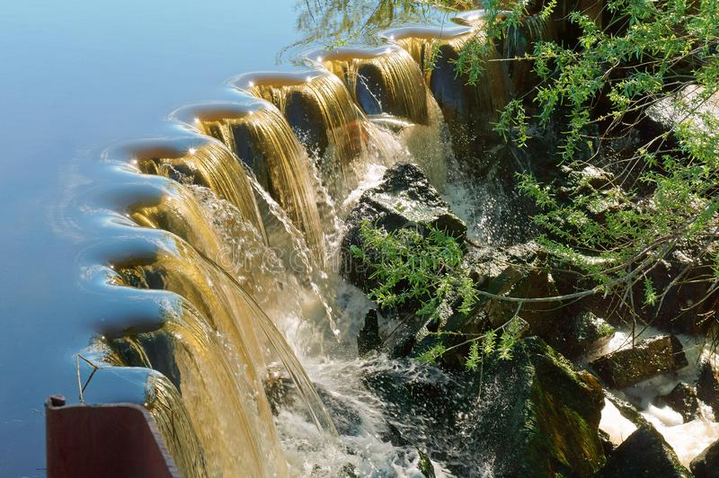 Wodna filtracja, hydraulicznej inżynierii struktura obraz stock