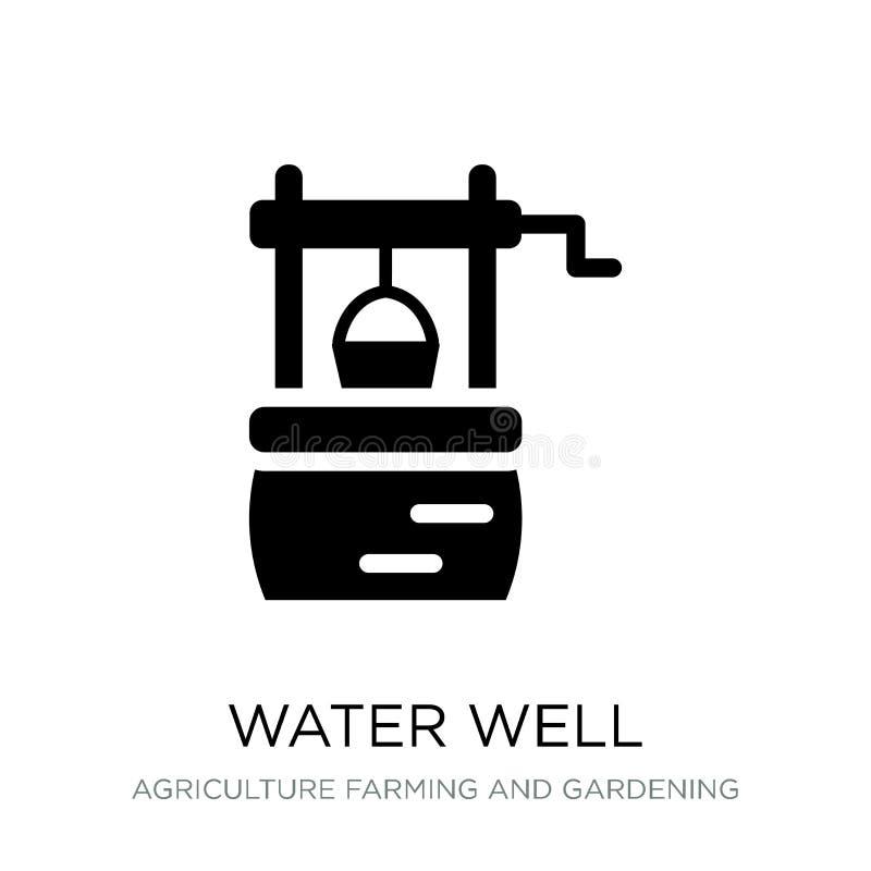 wodna ikona w modnym projekta stylu dobrze wodna ikona odizolowywająca na białym tle dobrze wodna wektorowa ikona prosta i nowoży ilustracja wektor