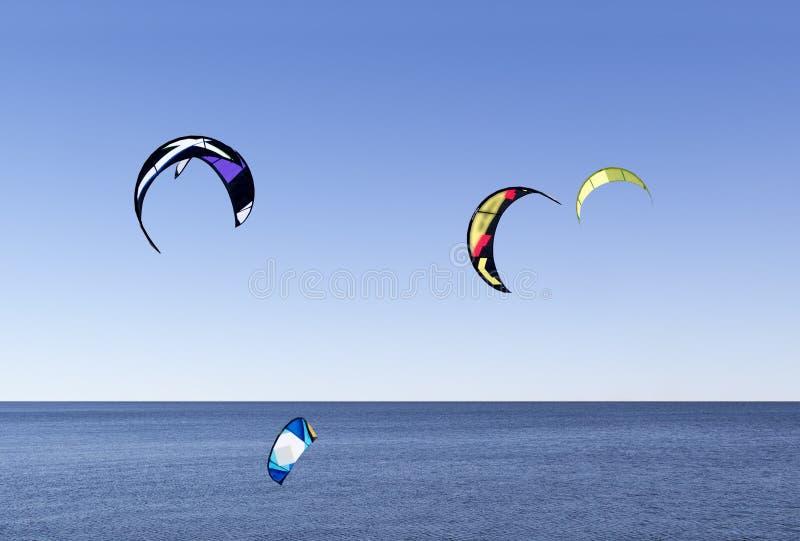 Wodna kitesurfing rasa fotografia royalty free