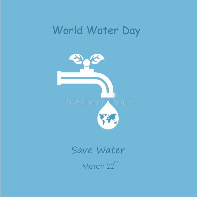 Wodna kropla i wodnego klepnięcia ikona z zieleń liści loga wektorowym desi ilustracja wektor