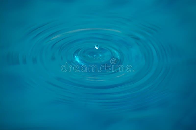Wodna kropla na spokój powierzchni zdjęcie stock
