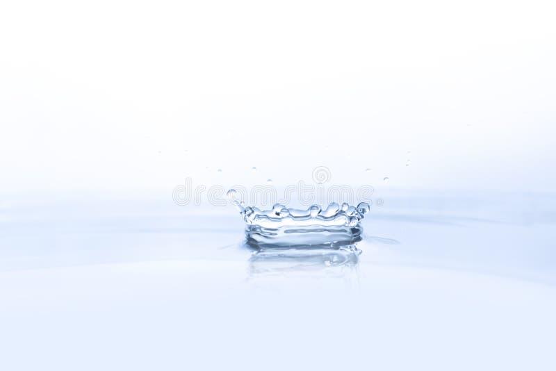 Wodna kropla na wodnym tle fotografia stock
