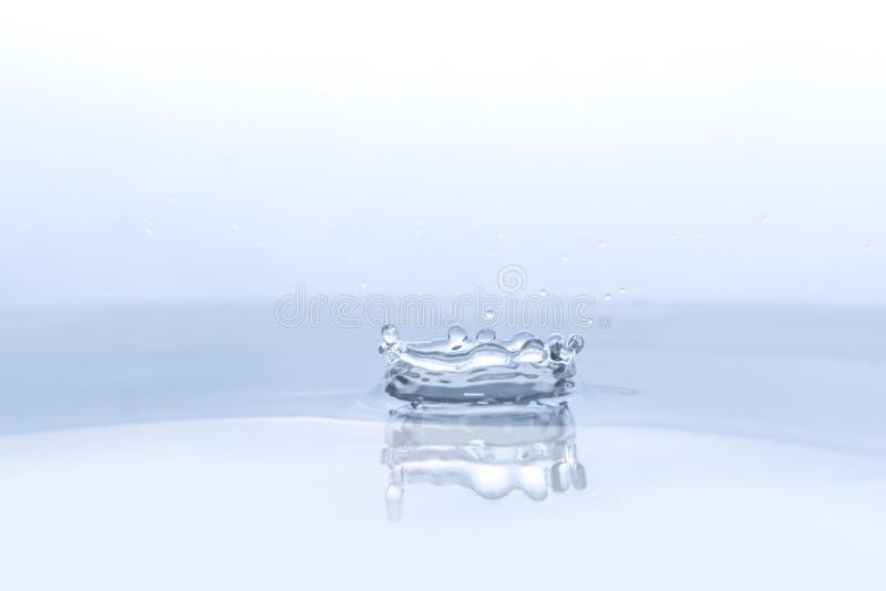 Wodna kropla na wodnym tle zdjęcia royalty free