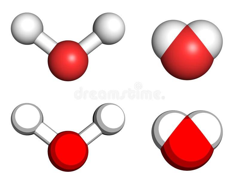Wodna molekuła ilustracji