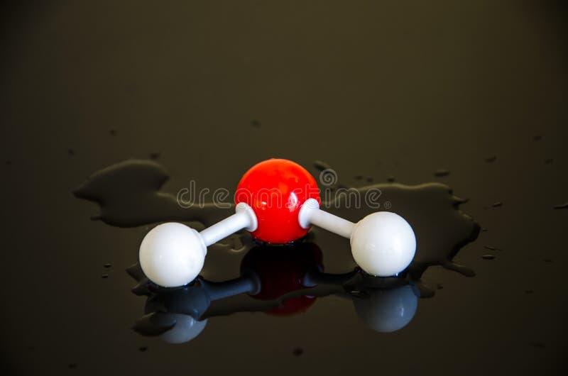 Wodna molekuła h2o fotografia stock