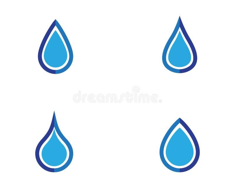 wodna opadowa loga szablonu wektoru ilustracja ilustracja wektor