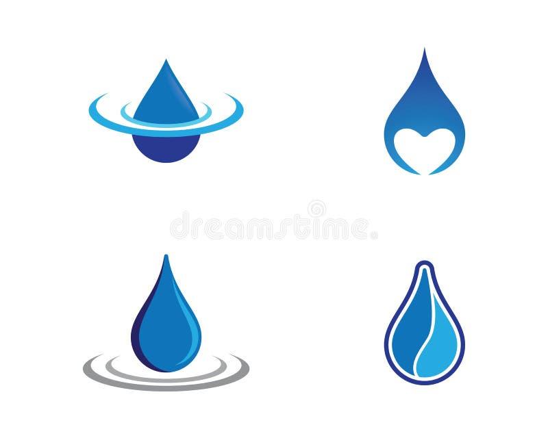 Wodna opadowa wektorowa ikona ilustracja wektor