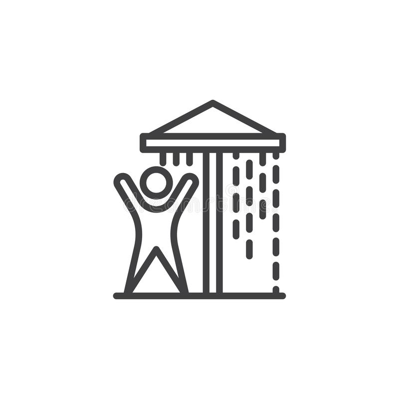 Wodna parkowa prysznic linii ikona ilustracji