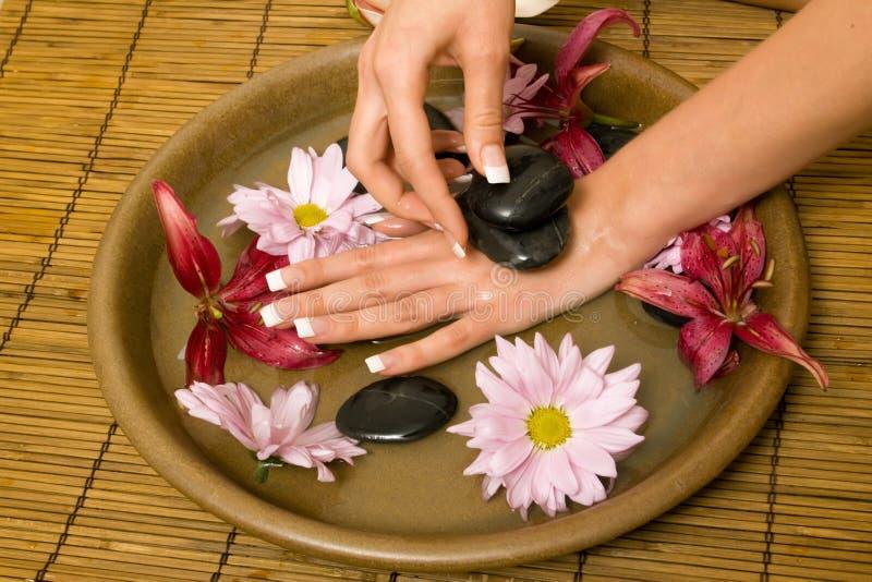 wodna ręki kobieta s zdjęcie royalty free