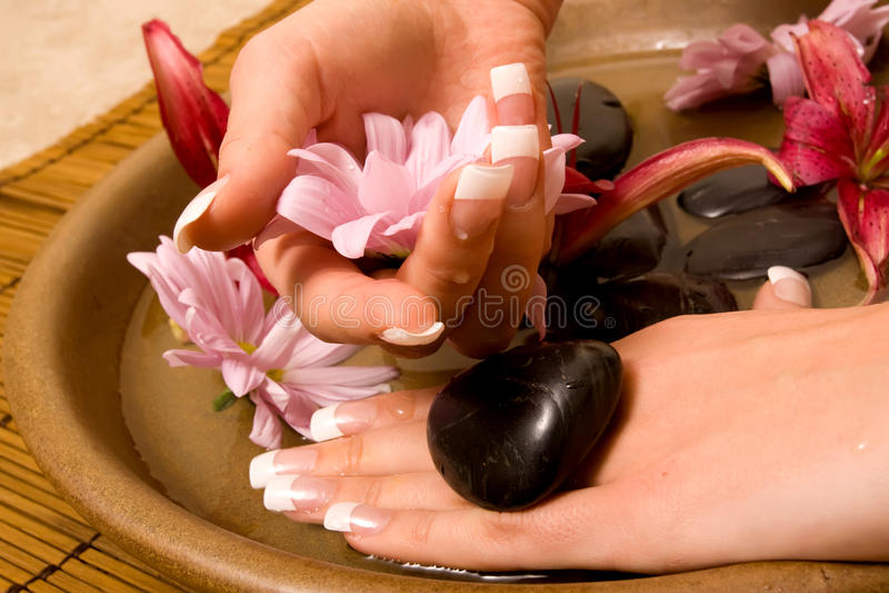 wodna ręki kobieta s zdjęcia stock