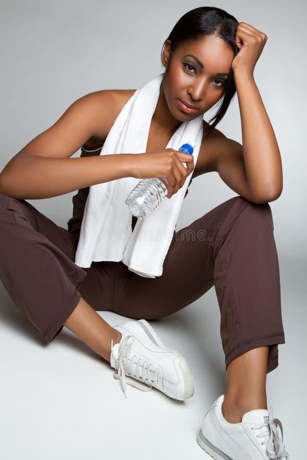 wodna sprawności fizycznej kobieta obraz royalty free