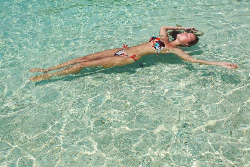 wodna swimsuit kobieta obrazy stock