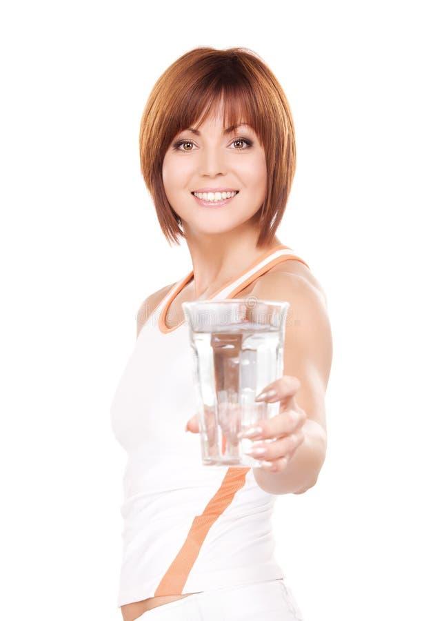 wodna szkło kobieta fotografia stock