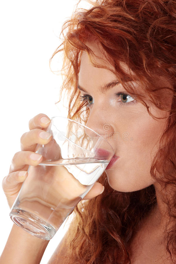 wodna szkło TARGET700_0_ kobieta obrazy stock