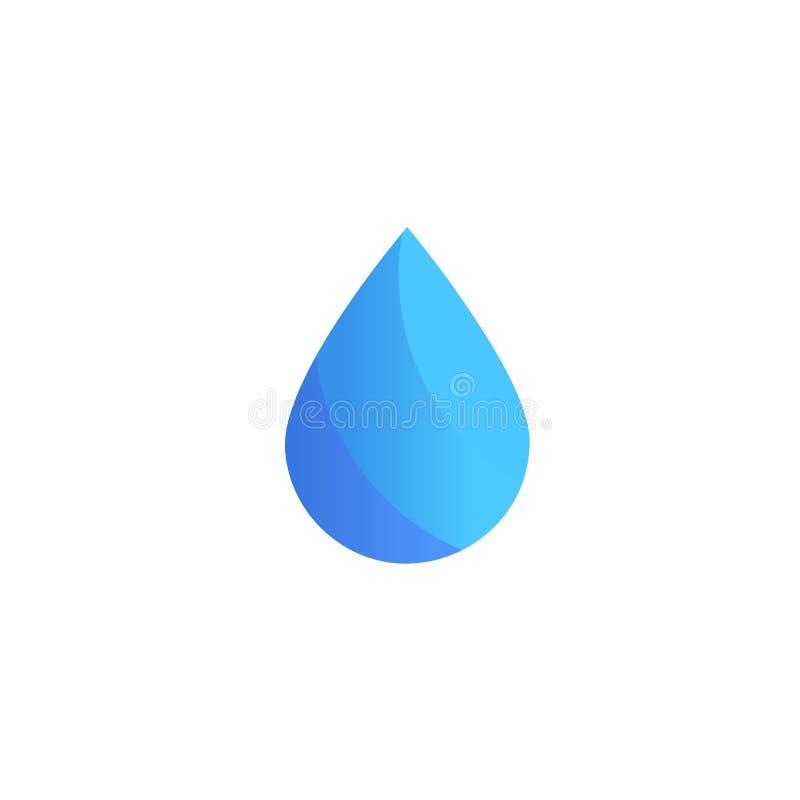 Wodna wektorowa ikona Opadowy logo szablon Firma emblemata projekt Abstrakcjonistyczny błękitny symbol na białym tle wektory ilustracja wektor