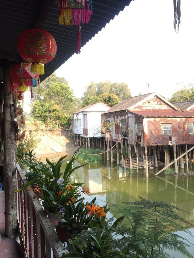 Wodna wioska obraz stock