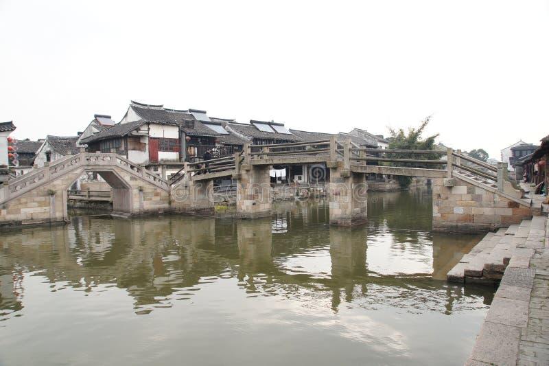 Wodna wioska Xitang zdjęcie royalty free