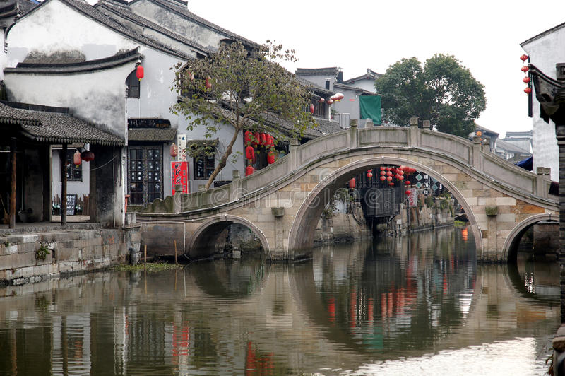 Wodna wioska Xitang zdjęcia royalty free