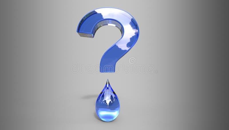 Wodna znaka zapytania 3D ilustracja ilustracja wektor