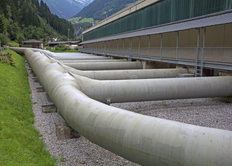 Wodne elektrowni drymby zdjęcie stock