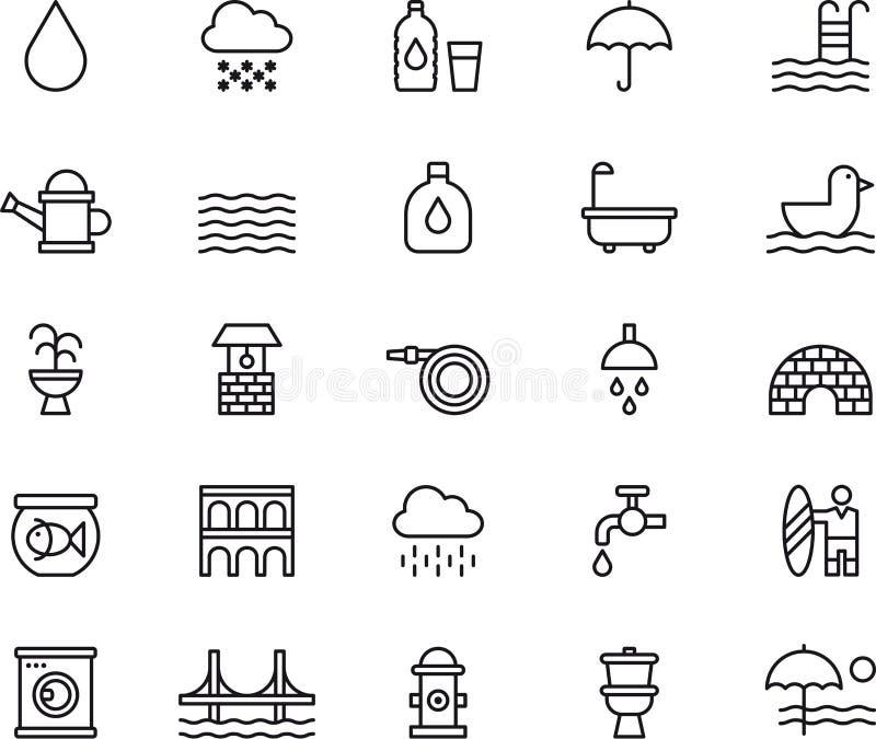 Wodne ikony royalty ilustracja