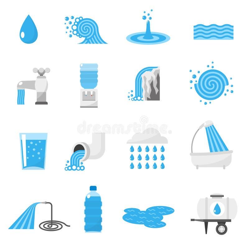 Wodne ikony ustawiać ilustracji