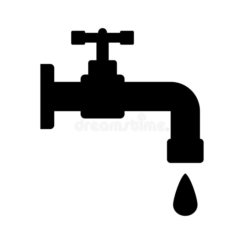 Wodnego klepnięcia ikona ilustracja wektor