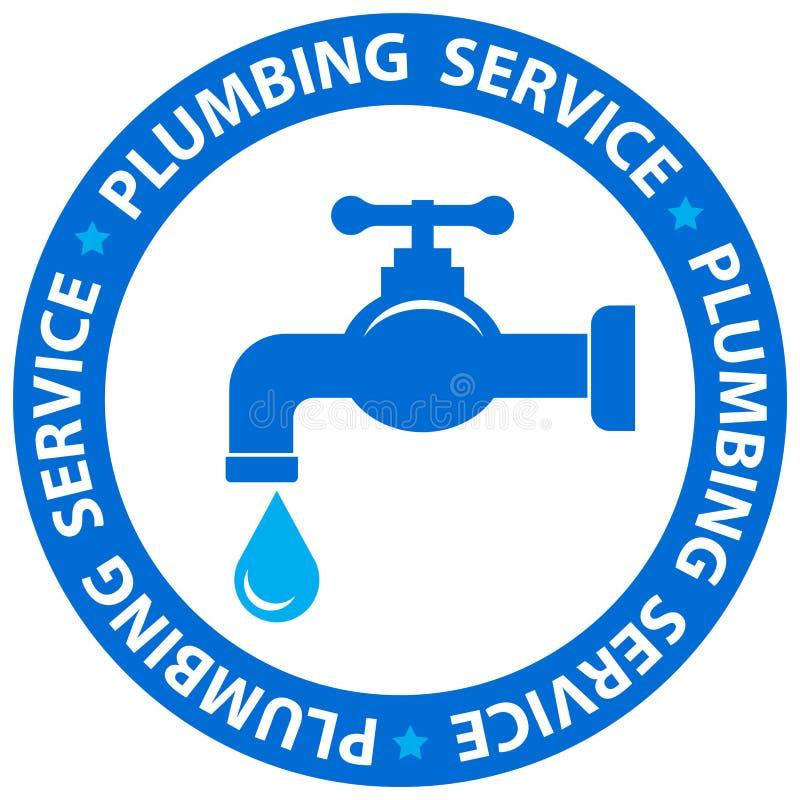 Wodnego klepnięcia ikony instalaci wodnokanalizacyjnej usługa royalty ilustracja