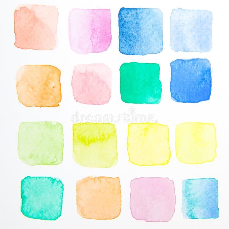 Wodnego koloru testa muśnięcie obraz stock