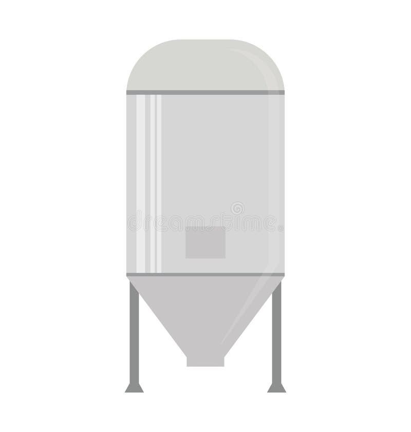 Wodnego nagrzewacza zbiornika ikona ilustracja wektor