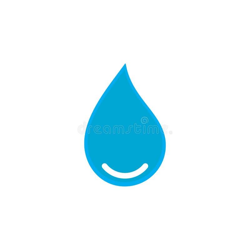 Wodnego Opadowego logo szablonu ikony wektorowa ilustracja ilustracji