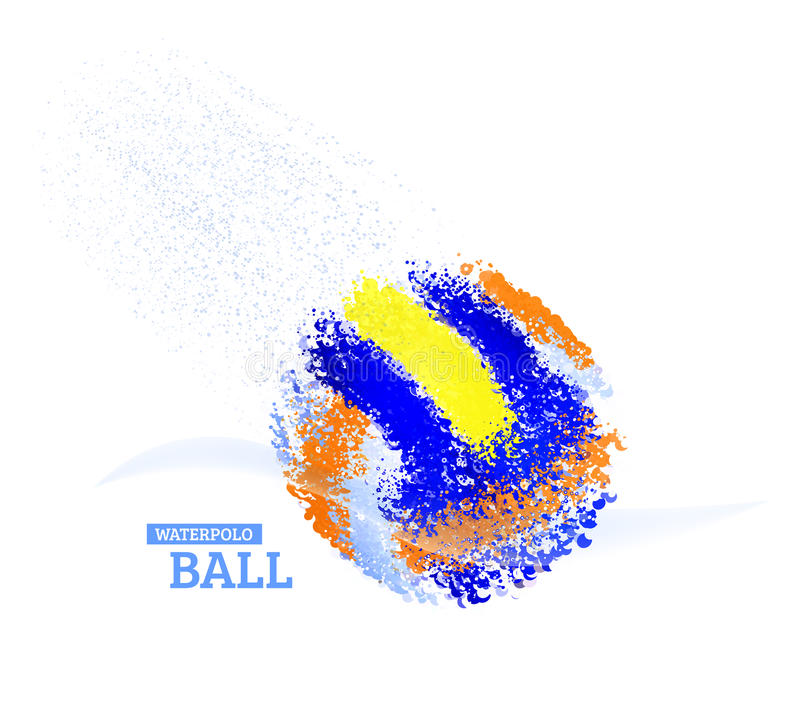 Wodnego polo piłka ilustracja wektor