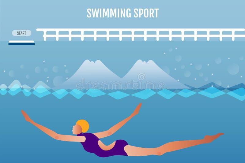 _ Wodnego sporta wyposażenie Atlety aktywność w turniejowej grą ilustracja wektor