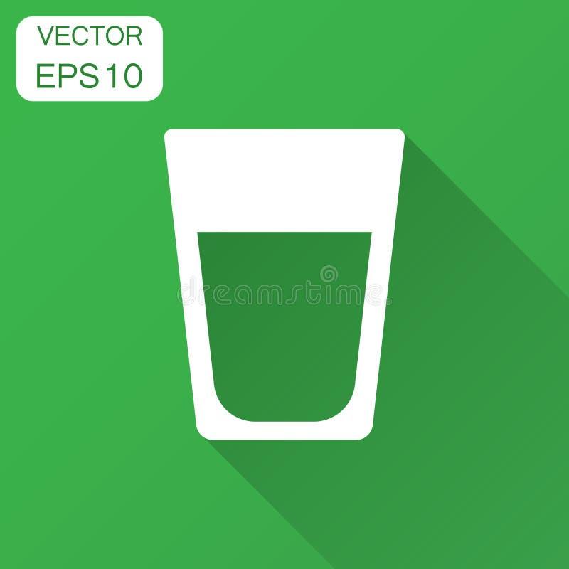 Wodnego szkła ikona w mieszkanie stylu Sodowana szklana wektorowa ilustracja w ilustracja wektor