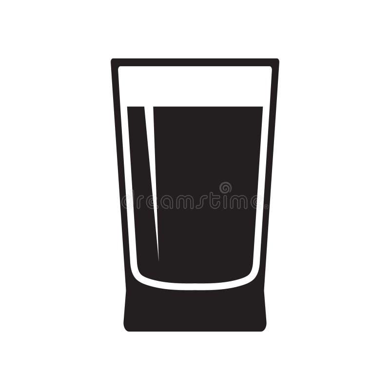 Wodnego szkła ikony wektor odizolowywający royalty ilustracja