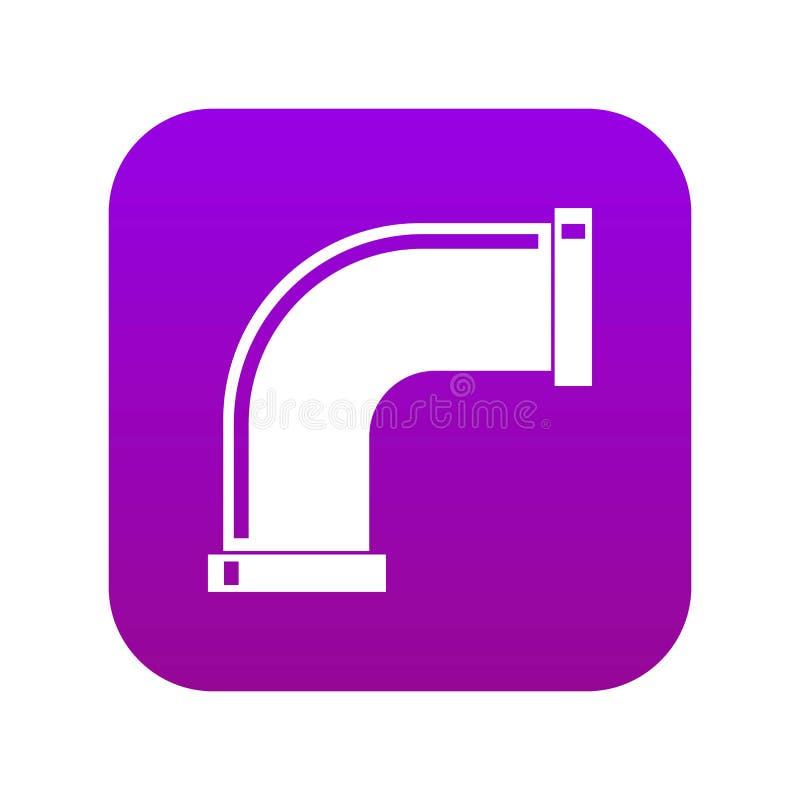 Wodnej drymby ikony cyfrowe purpury royalty ilustracja