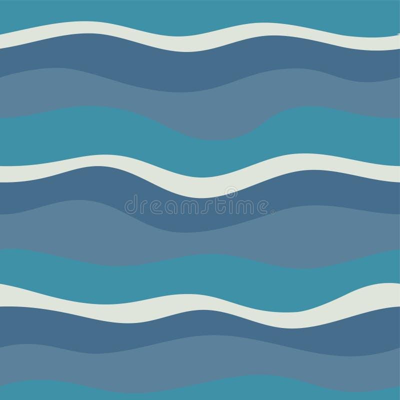 Wodnej fala abstrakcjonistyczny projekt ilustracji