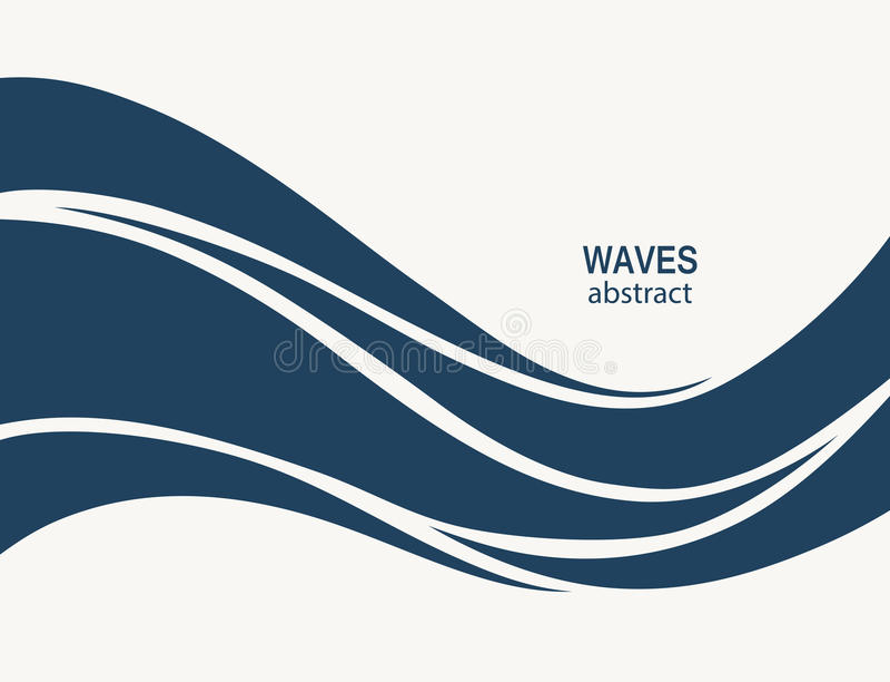 Wodnej fala loga abstrakcjonistyczny projekt Kosmetyk kipieli sporta logotyp c ilustracja wektor