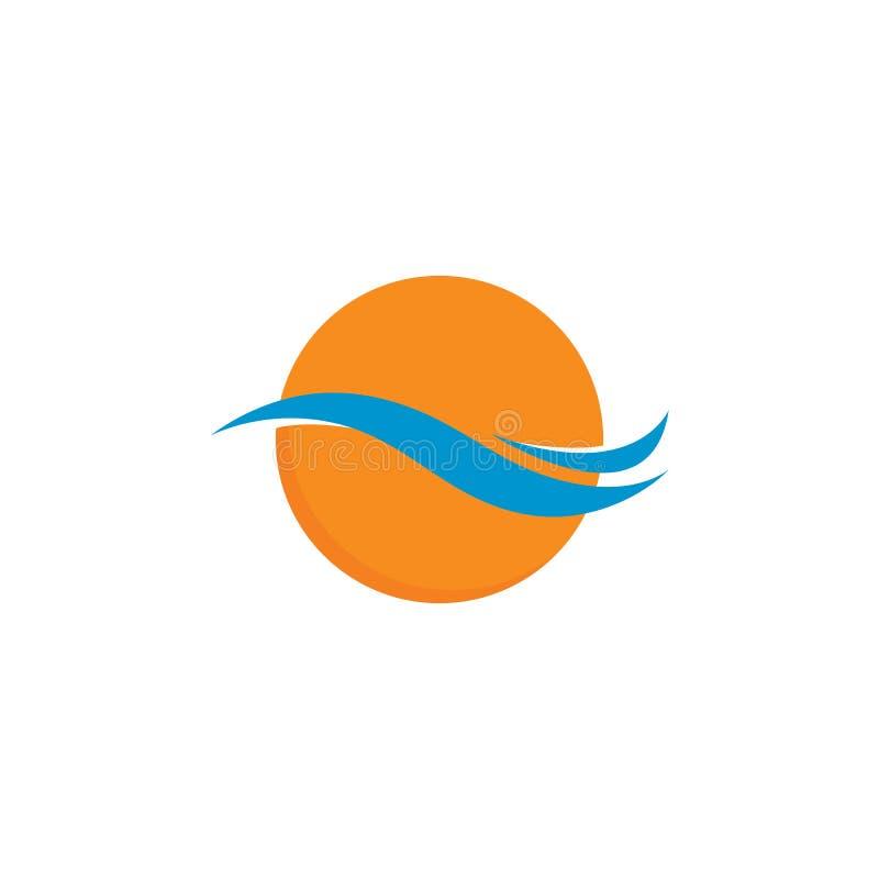 Wodnej fala loga szablon Wektorowa ikony ilustracja ilustracja wektor