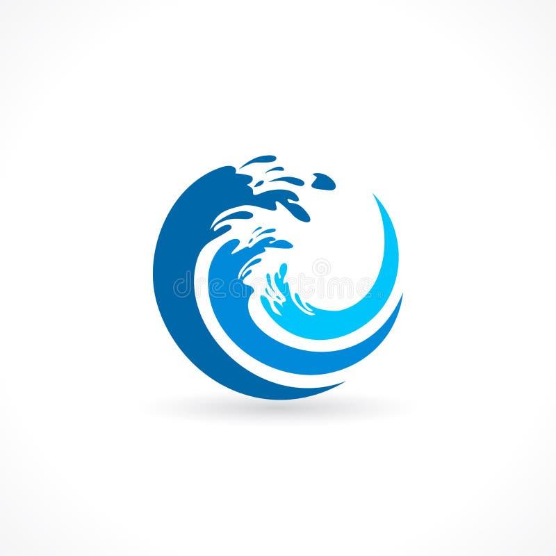 Wodnej fala pluśnięcia ikona royalty ilustracja