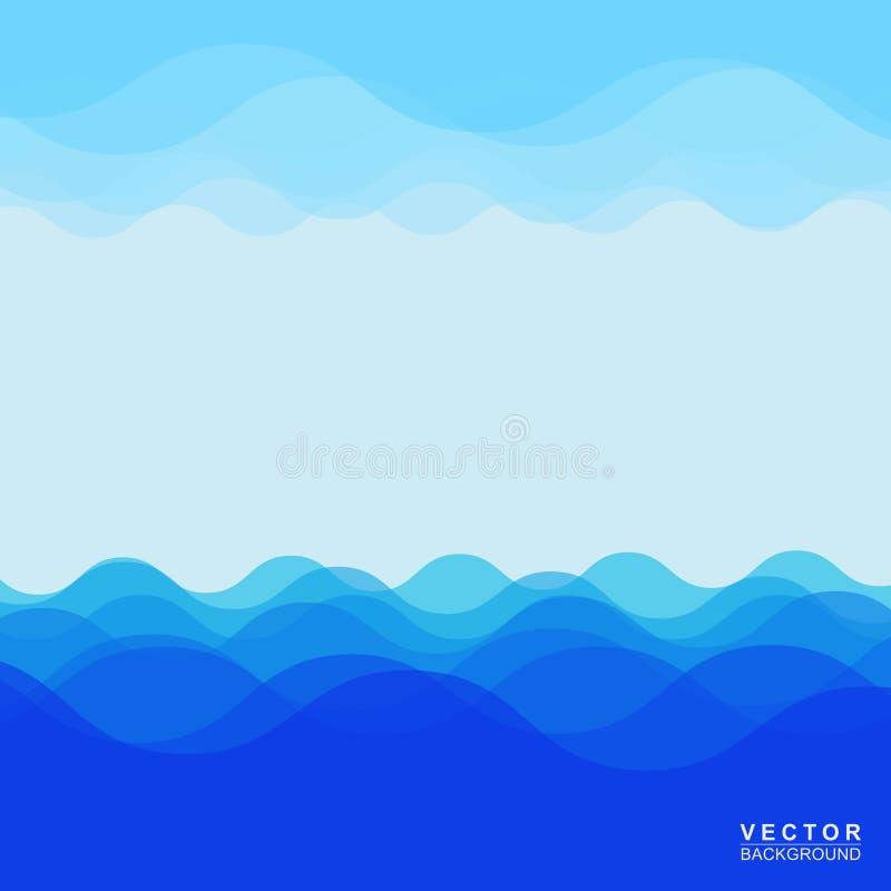 Download Wodnej fala projekt ilustracja wektor. Ilustracja złożonej z grafika - 53783042