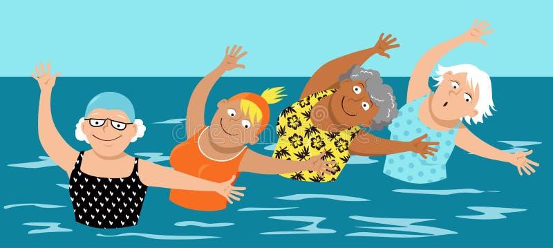 Wodni aerobiki dla kobiet royalty ilustracja