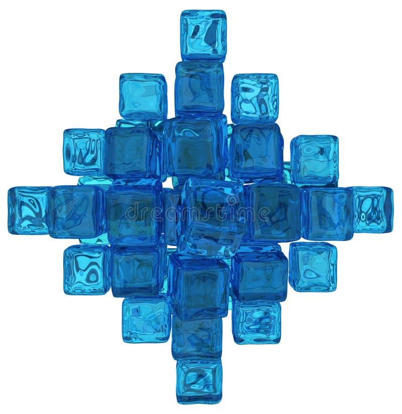 Wodni Krystaliczni sześciany ilustracji