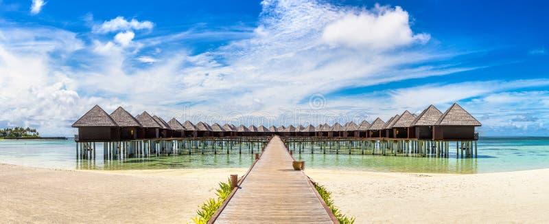 Wodni willa bungalowy w Maldives obraz royalty free