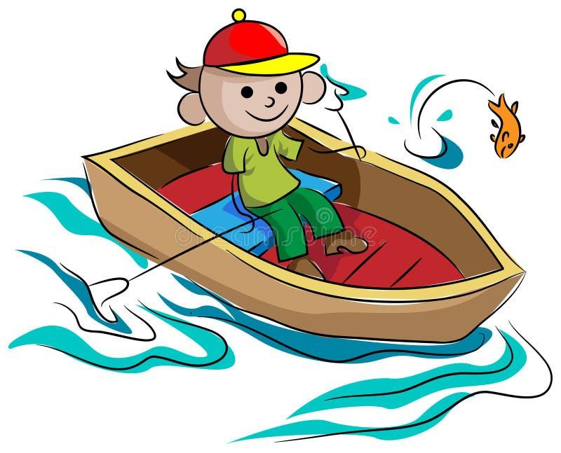 Wodniactwo chłopiec ilustracja wektor