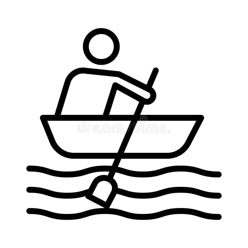 Wodniactwo cienka kreskowa wektorowa ikona royalty ilustracja