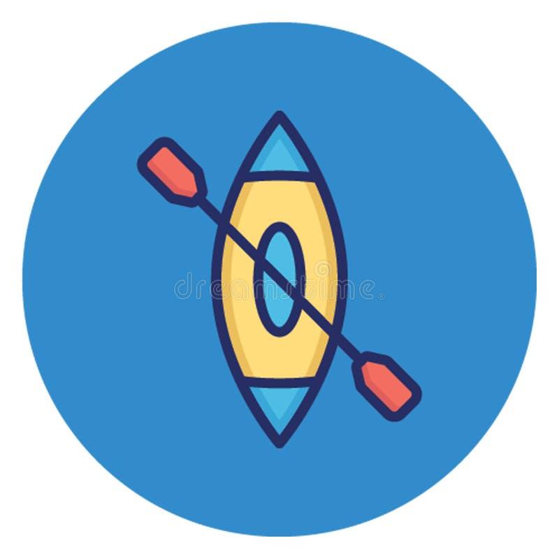 Wodniactwo, flisactwo Wektorowa ikona która może łatwo redagować ilustracja wektor